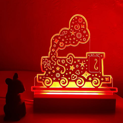 STEAM TRAIN MULTI COLOURED LED LIGHT