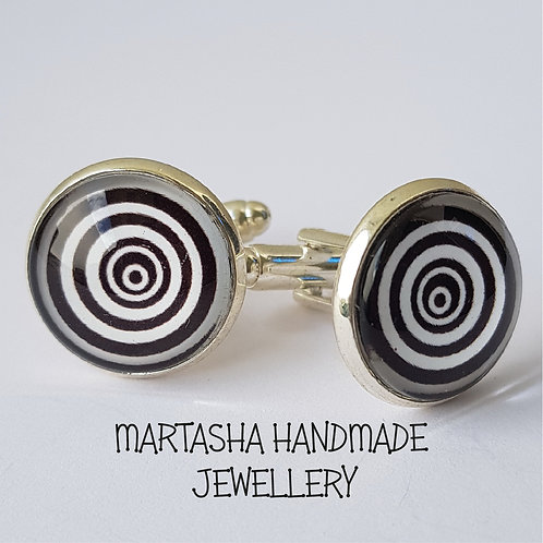 Retro Swirl Cufflinks
