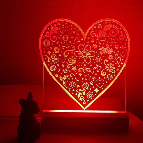 HEART MULTI COLOURED LED LIGHT