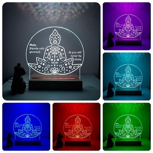 BUDDHA MULTI COLOURED LED LIGHT