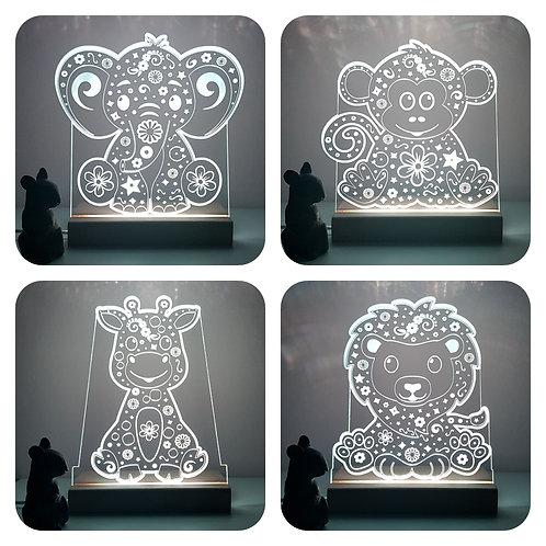 JUNGLE ANIMALS LED LIGHT