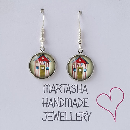 Beach Hut Drop Earrings