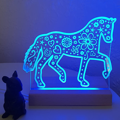 HORSE MULTI COLOURED LED LIGHT