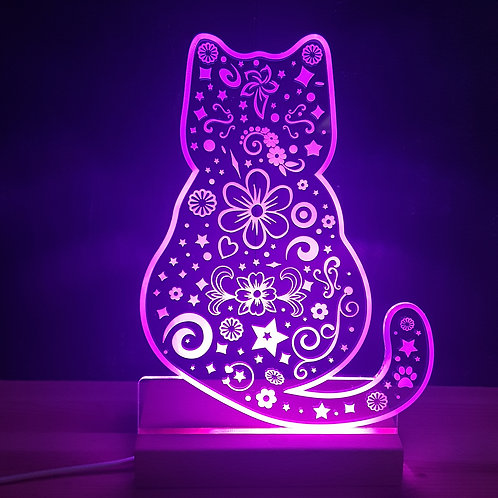 CAT MULTI COLOURED LED LIGHT