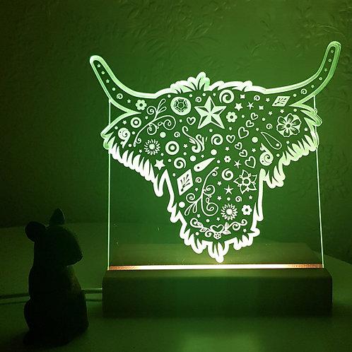 HIGHLAND COW LED LIGHT