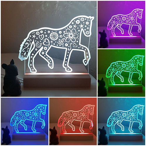 HORSE MULTI COLOURED LED LIGHT