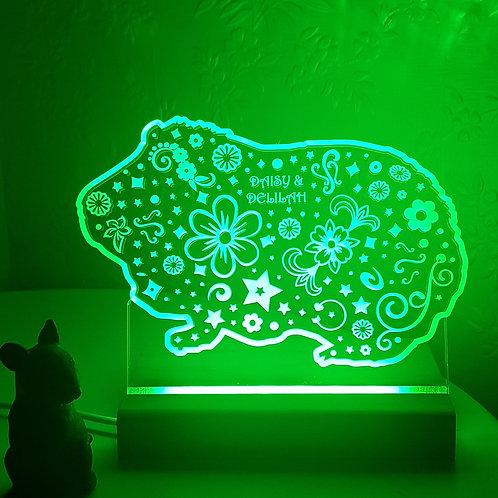 GUINEA PIG MULTI COLOURED LED LIGHT