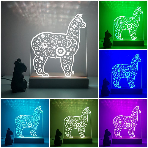 ALPACA MULTI COLOURED LED LIGHT