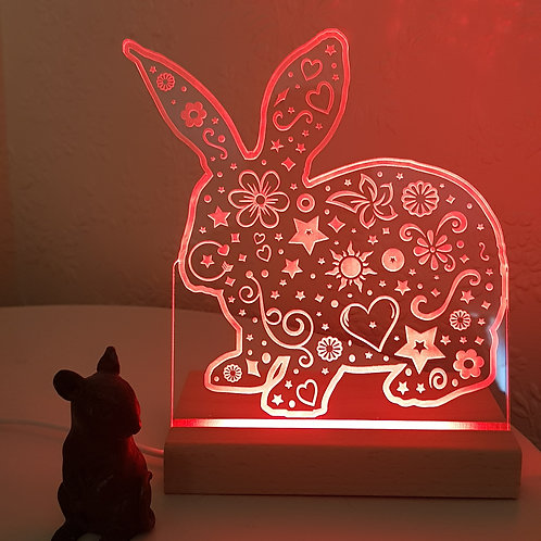 RABBIT MULTI COLOURED LED LIGHT