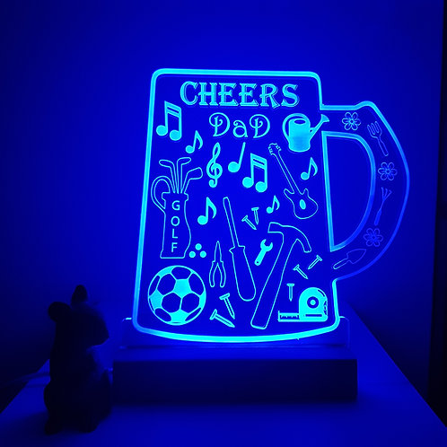 CHEERS DAD LED LIGHT