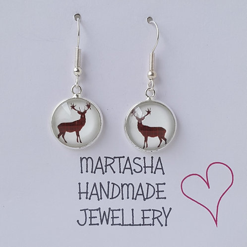 Stag Drop Earrings