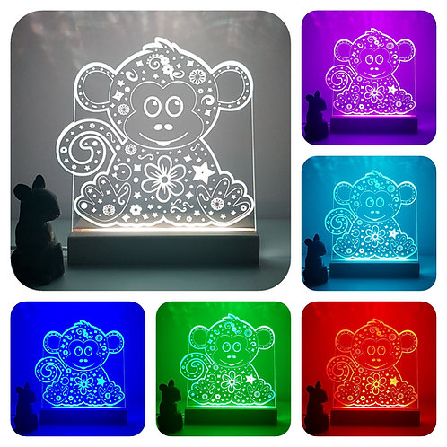 JUNGLE ANIMALS MULTI COLOURED LED LIGHT