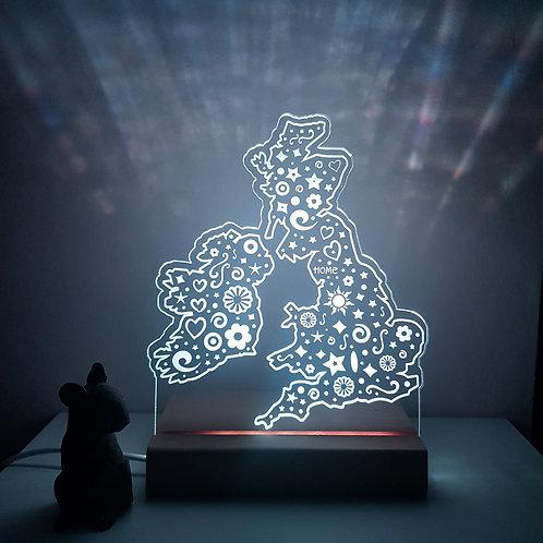 UK MAP LED LIGHT
