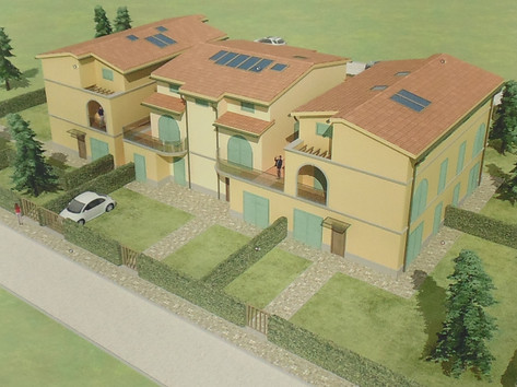realizzazione piccolo complesso di villette a Schiera a Collesalvetti