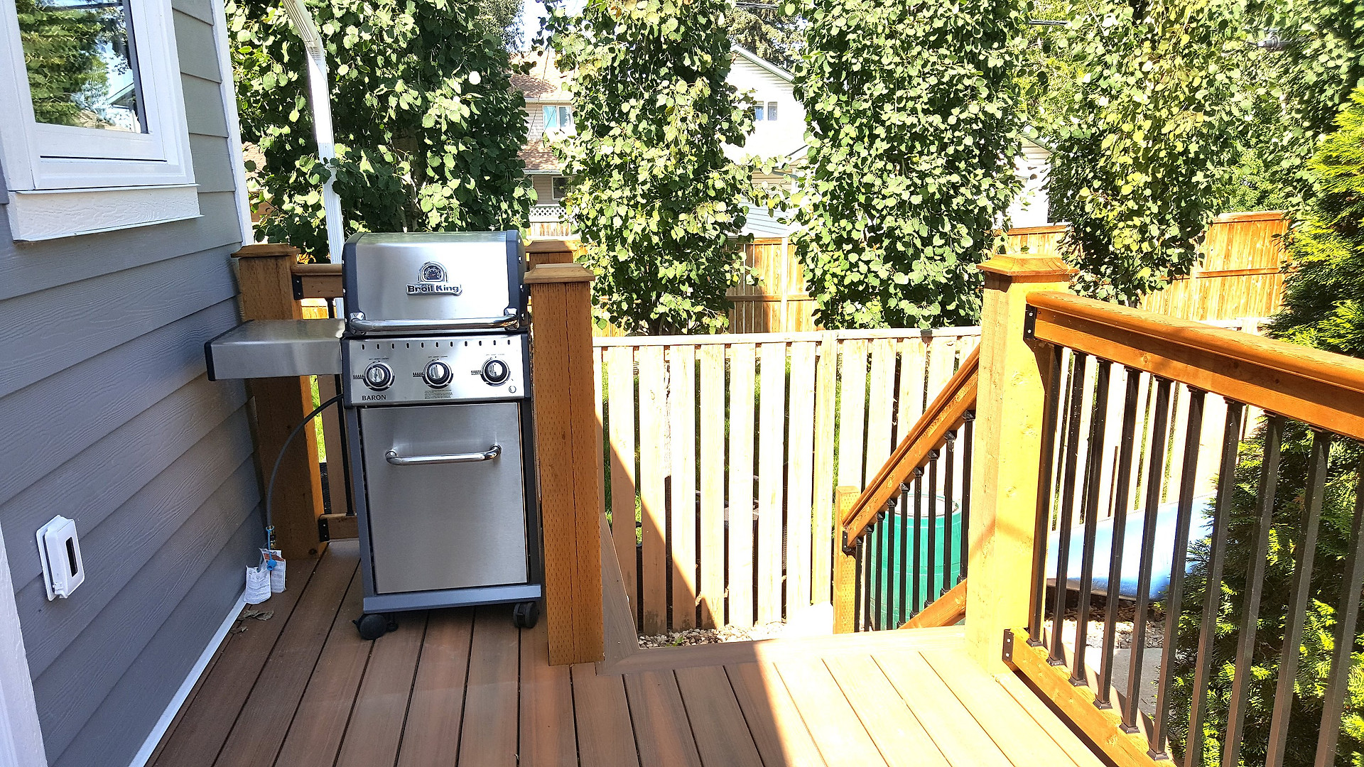 Barbacue on Back Deck