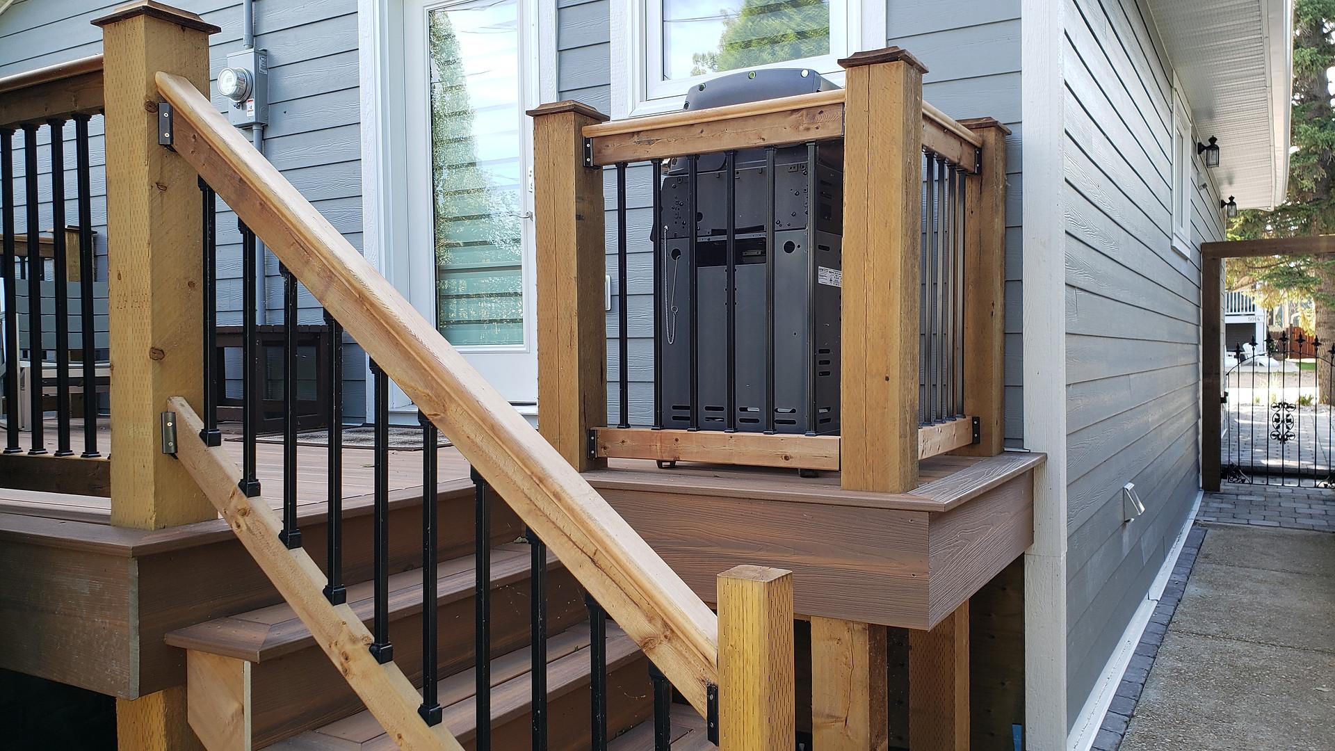 Steps up to Back Deck