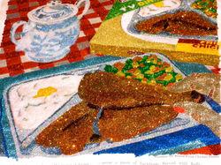 Glitter Pop Art TV Dinner Chicken