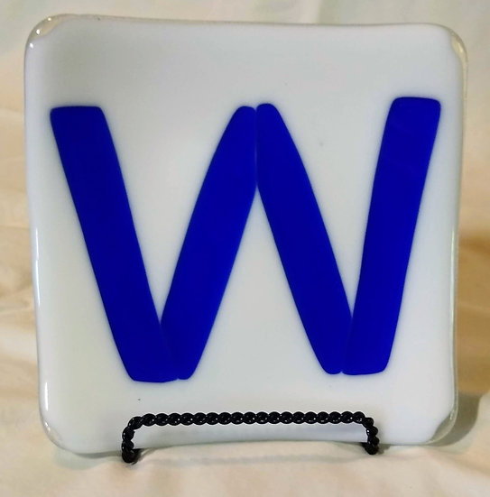 5 1/4 inch Square Plate Cubs Win