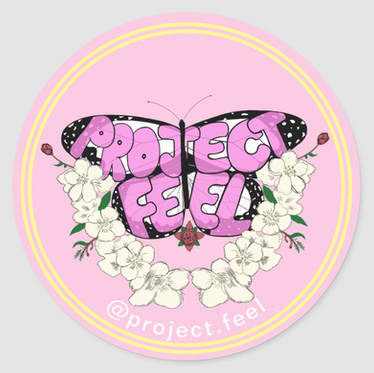 """Pink Lemonade"" Project Feel Sticker"