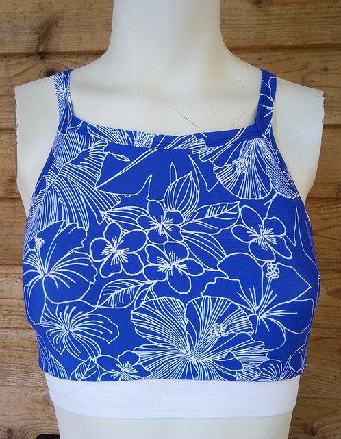 Blue Hibiscus Bralette