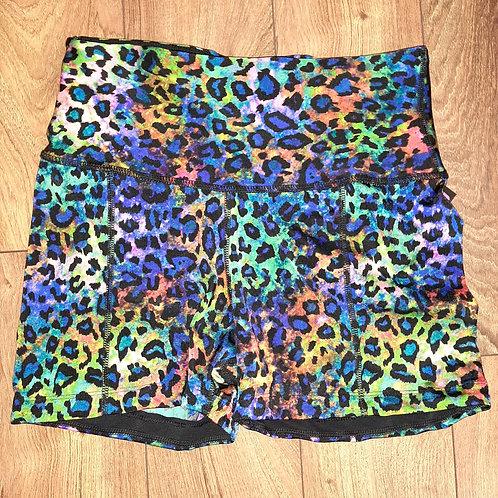 Rainbow Leopard Shorts