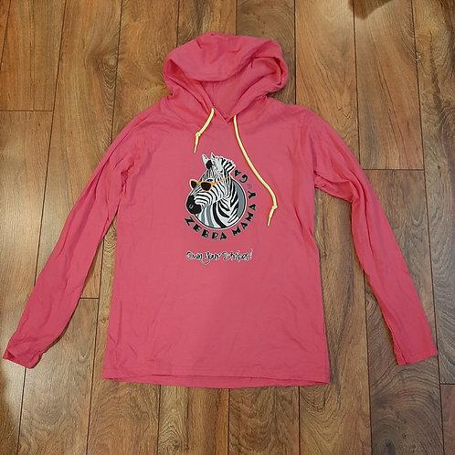 Hot Pink T Shirt Hoodie