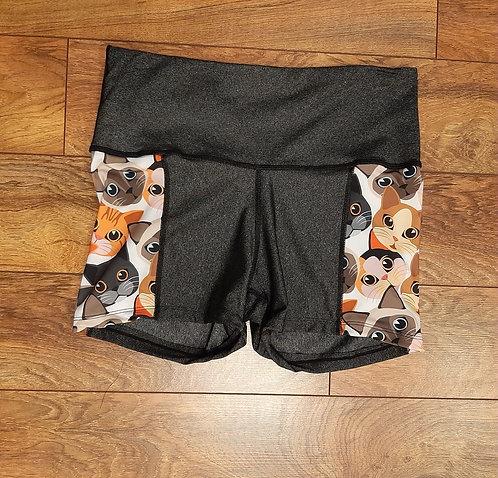 Krazy for Kitties Panel Shorties