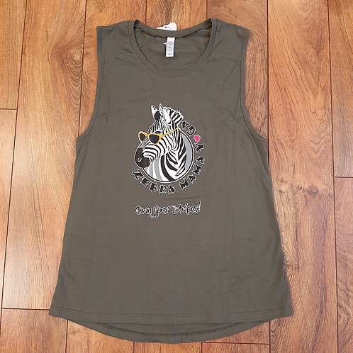 Olive Muscle Tank