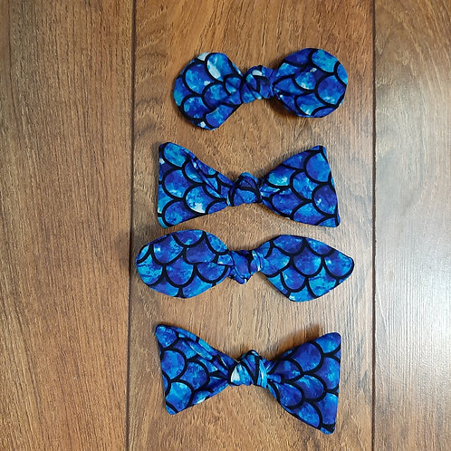 Blue Mermaid Hair Bow
