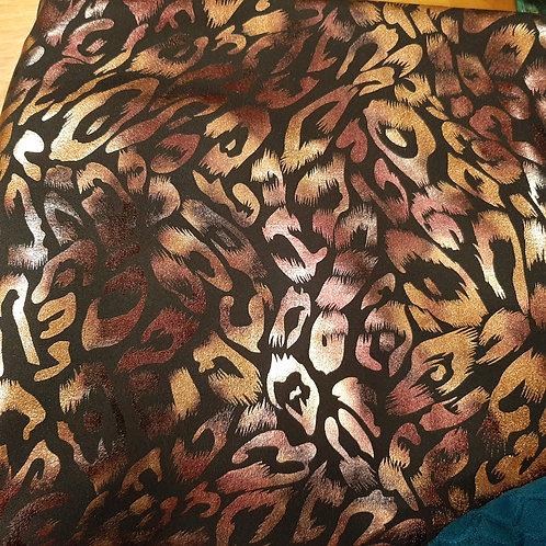Copper Leopard Print