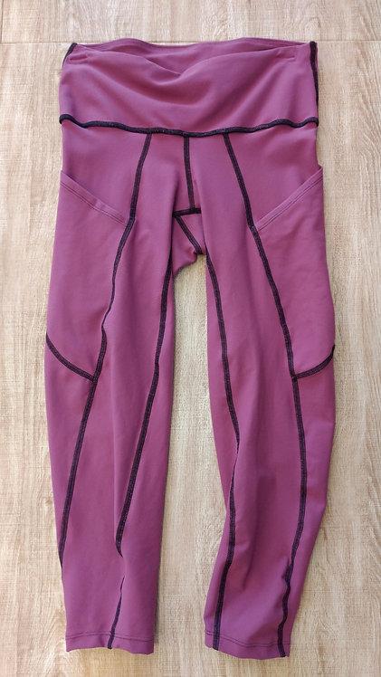 Mauve Cora Fit Pocket Capri Pant