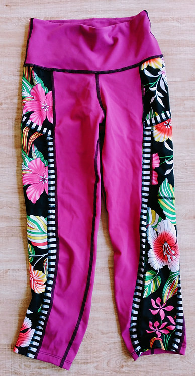 Tickled Pink Capri Pocket Pant