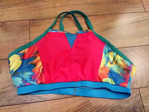 Tropical Feather Bralette Color Block
