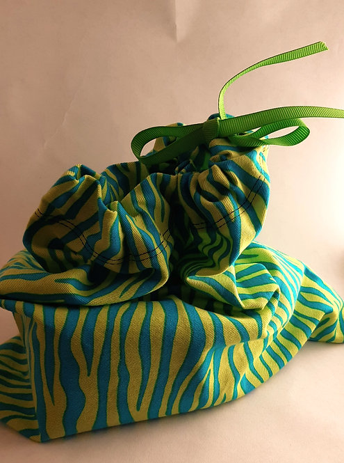Turquoise and Green Zebra Gift bags