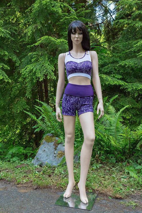 Lotus Print Shortie Shorts