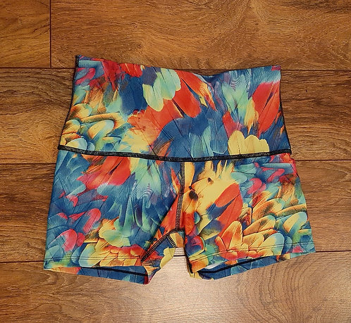 Tropical Feather Shorts