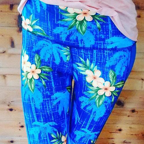 Blue Hawaiian Full Length Pant