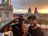 Glory and Fred in Cuba