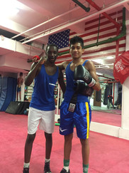 Sparring with Golden Glove Champion