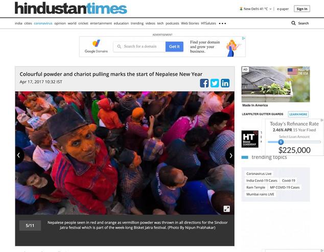 Biskit Jatra celebration, Nepal for Hindustan Times