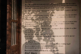 Shadow of Sorry tree on Rohit's suicide note.