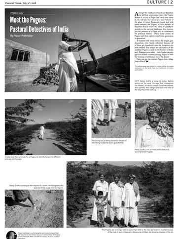 Foot Print Investigators of India - Pastoral Times