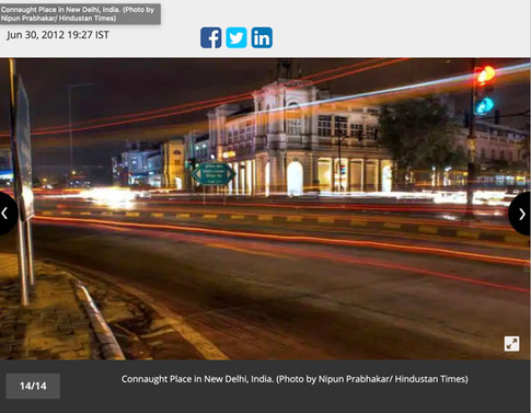 Shades of Delhi for Hindustan Times