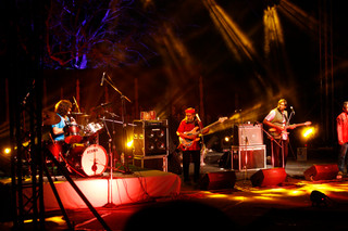 Indian Ocean Band playing in the Open air theatre.