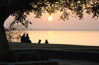 Viewing deck overlooking the Upper Lake in Bhopal.