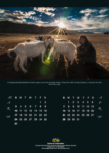 Calendar design 2019 for Center For Pastoralism