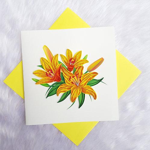 Yellow Lilies Card