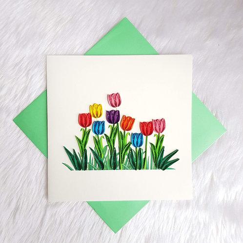 Rainbow Tulips Card