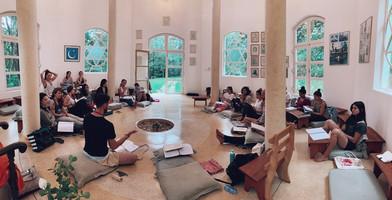 Estudo filósico no templo mágico na Fazenda Furquilha com Rô e Rapha