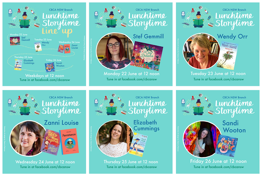 Lunchtime Storytime Live! Week 9 Line-up